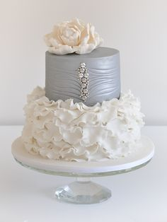 silver and white cakes - Google Search