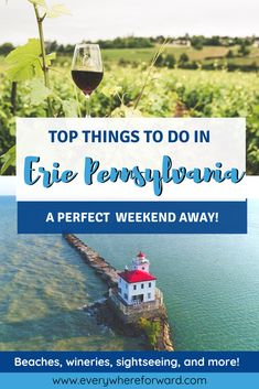Top things to see and do in Erie Pennsylvania! Explore the best things in Erie Pennsylvania. Plan the perfect weekend in Erie Pennsylvania | Pennsylvania travel tips | places to visit in Pennsylvania | Erie Pennsylvania guide | two days in Erie Pennsylvania | weekend in Erie Pennsylvania | plan a trip to Erie Pennsylvania | top things to do in Erie Pennsylvania | attractions in Erie Pennsylvania | Lake Erie wine country| wineries in Erie Travel Ideas, Travel Tips, Erie Pennsylvania, Stuff To Do, Things To Do, Romantic Weekend Getaways, Great Lakes Region, Best Travel Guides, Short Break