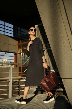 Zara grey maxi dress Stella McCartney platform creepers loafer Binx Givenchy Antigona burgundy bag Celine sunglasses outfitpost lookoftheday streetstyle Fashion Zen Fashionzen blog blogger fashionblogger