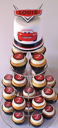 Disney Cars Cupcake Tower by GrannySweet'sCakes, via Flickr