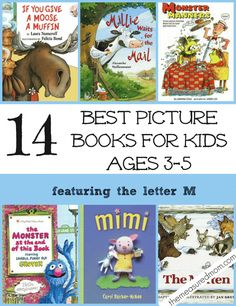 These picture books for preschoolers are great to read alongside your letter M activities.  SO many hilarious books in this list!