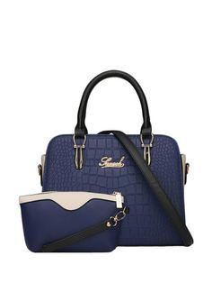 Crocodile Design Solid Color Versatile Handbag For Women & Handbags - at Jollychic