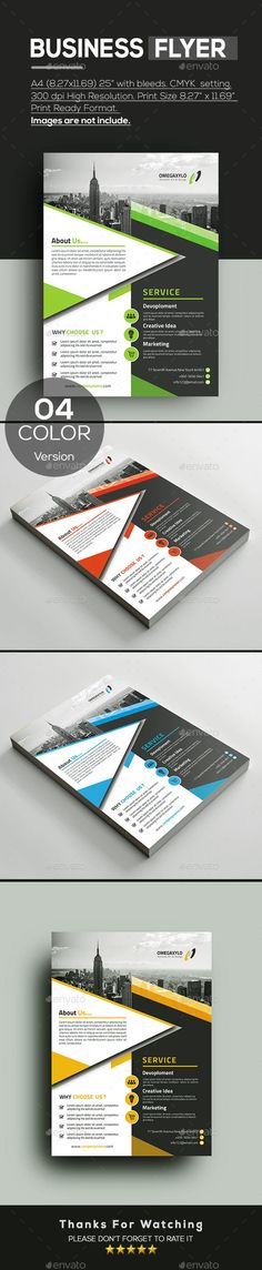 #Business #Flyer - Corporate Flyers Download here:  https://graphicriver.net/item/business-flyer/20353649?ref=alena994