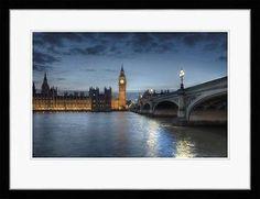 Framed Art Prints London Thames Parliament Big Ben Rod Edwards