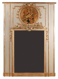 "19th century French  Trumeau Mirror - 69"" high 49"" long - Clark Antiques Gallery $4,995.00 - STUNNNING!"