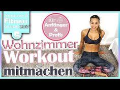 Wohnzimmer Workout - Bauch Beine Po und Oberkörper - Für Profis und Anfänger - mit Aufwärmen - YouTube