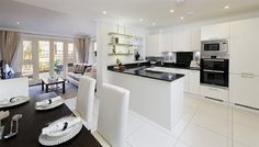 open plan kitchen diner and sitting