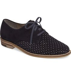 9dbd9c7a06 Main Image - ara Kyleigh Studded Oxford (Women) Suede Oxfords, Suede  Leather Shoes