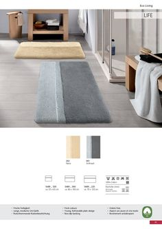 Non-slip luxury cotton bath rug with sculpted design for extra style. Abosorbent soft cotton rug with thick medium pile / height Bath Rugs, Sculpting, Contemporary, Medium, Luxury, Cotton, Design, Home Decor, Style
