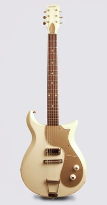 Gretsch Princess Model Solid Body Electric Guitar (1964), made in Brooklyn, NY, serial # (illegible), white lacquer finish, mahogany body and neck, rosewood fingerboard.