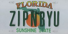 State of Florida License Plate, U.S. State License Plates