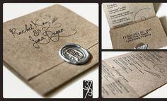 Wedding Programs by 37by79 : Rachel Dugan, via Flickr