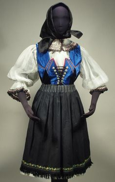 SLOVAK old folk costume antique embroidered blouse vest pleated skirt apron KROJ in Collectibles, Cultures & Ethnicities, European   eBay