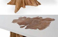 massivmöbel baumstamm massivholz naturholz möbel