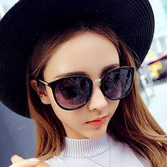 New Cat Eye Women Sunglasses Round Black Aviator Sun Glasses Men Driving  Glasses Wholesale Eyewear Lady 925a1a92567ca