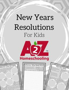 Get your homeschoolers into the new year resolution planning too! Use these free printables for new year resolution ideas for kids and families.