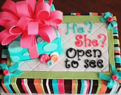 Baby gender reveal cake by hobbycakesbyjan, via Flickr