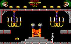 Cauldron II for Amstrad CPC (Palace Software, 1986). Also published on ZX Spectrum, C64 and Flash. Platform / action game with maze elements..