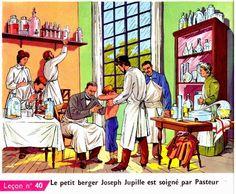 Le petit berger Joseph Jupille est soigné par Pasteur Institut Pasteur, Joseph, Painting, Art, Art Background, Painting Art, Kunst, Paintings, Performing Arts
