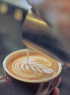 Would love starting off the morning with a rich cappuccino. Coffee Talk, I Love Coffee, Coffee Break, My Coffee, Coffee Drinks, Coffee Shops, Morning Coffee, Espresso, Opening A Coffee Shop