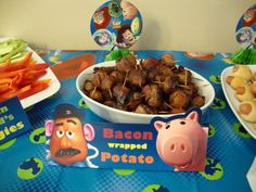 Toy Story - Bacon wrapped potato? Not sure about this one