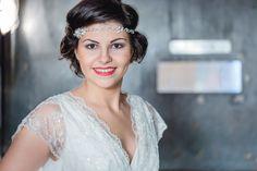 #Kopfschmuck mit Strass in hellblau zur #Hochzeit
