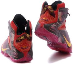 detailed look 14fa6 5211e Lebron 12 Red Purple Yellow0 Nike Lebron, Purple Yellow, Shoes Sneakers,  High Top