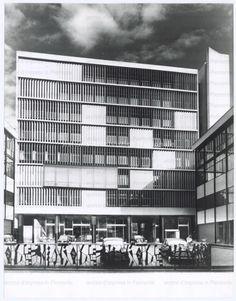 Olivetti sede della Divisione Italia -  Olivetti Headquarters Italian division, Milano - Gian Antonio Bernasconi, Annibale Fiocchi, Marcello Nizzoli