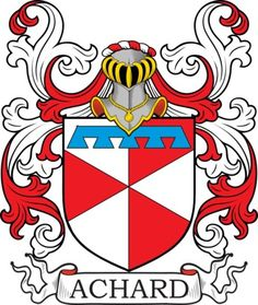 Achard Family Crest and Coat of Arms
