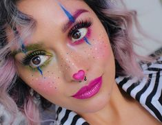 Melt cosmetics - Melt cosmetics Informations About Kosmetik schmelzen Pin You can easily use my pro - Melt Cosmetics, Makeup Cosmetics, Cute Clown Makeup, Halloween Makeup Looks, Halloween Make Up, Pretty Halloween, Clown Mignon, Clown Halloween Costumes, Cute Clown Costume
