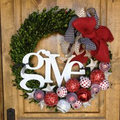 make a wreath for the service auction