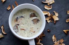 Kulajda - Czech White Soup with Mushrooms, Potatoes and Dill - Powered by @ultimaterecipe