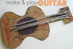 Guitar Craft For Kids - we made this years ago and it's still played with!