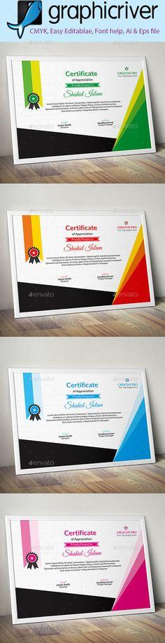 Corporate #Certificate (3) - Certificates Stationery Download here: https://graphicriver.net/item/corporate-certificate-3/19998885?ref=alena994