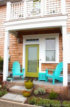 House of Turquoise: Turquoise Tour of Seabrook, Washington. Love this porch! #coastalliving
