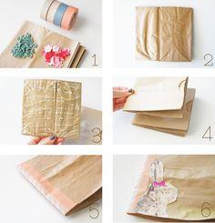 DIY Paper bag Book
