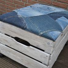 Opbergkist - jeans