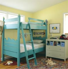 bunk beds.... this would be super cool at a lake house!