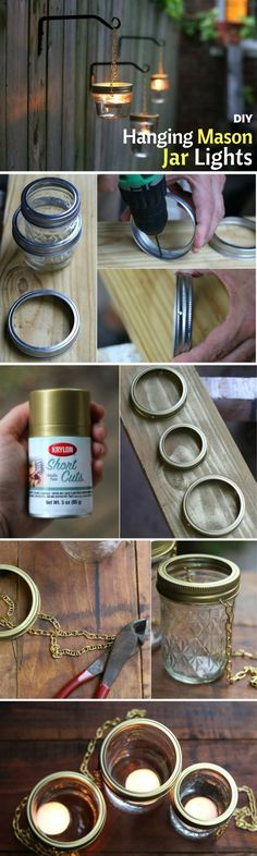 Check out how to make DIY outdoor lighting from mason jars @istandarddesign