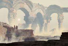 Forgotten temple, Damian Audino on ArtStation at https://www.artstation.com/artwork/rzPYm