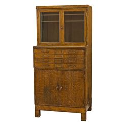 Extra Large Steel Cabinet w/ Faux Wood Grain Circa 1930s F7752  rejuvenation.com   Love it for my artwork to lay flat in the drawers.