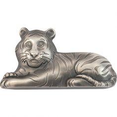 Silver Coins, Three Dimensional, Lion Sculpture, Statue, Shapes, Antiques, Art, Silver Quarters, Antiquities
