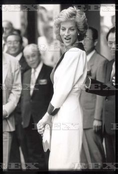 July 26 1989 Princess Diana Opening The Takashimaya Store And The Offices Of All Nipon Airways In Old Bond Street London