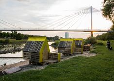 Hotel Shabby Shabby's pop-up rooms included a recycled riverside cabin