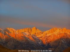 Mt Whitney web cam picture