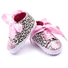Infant Newborn Hot Red Bling Sequins Roses Ribbon Baby Crib Shoes NB-18Month