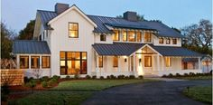 The Modern Farmhouse style combines timeless country elements with more modern influences. View our collection of Modern Farmhouse plans today. Modern Farmhouse Exterior, White Farmhouse, Modern Farmhouse Style, Farmhouse Plans, Farmhouse Design, Farmhouse Windows, Farmhouse Decor, Farmhouse Architecture, Modern Barn
