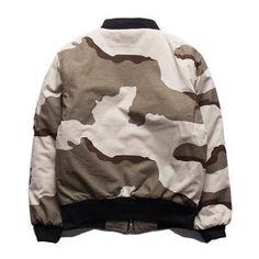 Bomber Jacket Military Hip Hop Camouflage