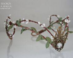 Woodland elf tiara elven headpiece fairy crown by Ayalga