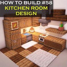 Minecraft Kitchen Ideas, Cute Minecraft Houses, Minecraft Mansion, Minecraft Plans, Minecraft Room, Amazing Minecraft, Minecraft House Designs, Minecraft Tutorial, Minecraft Blueprints